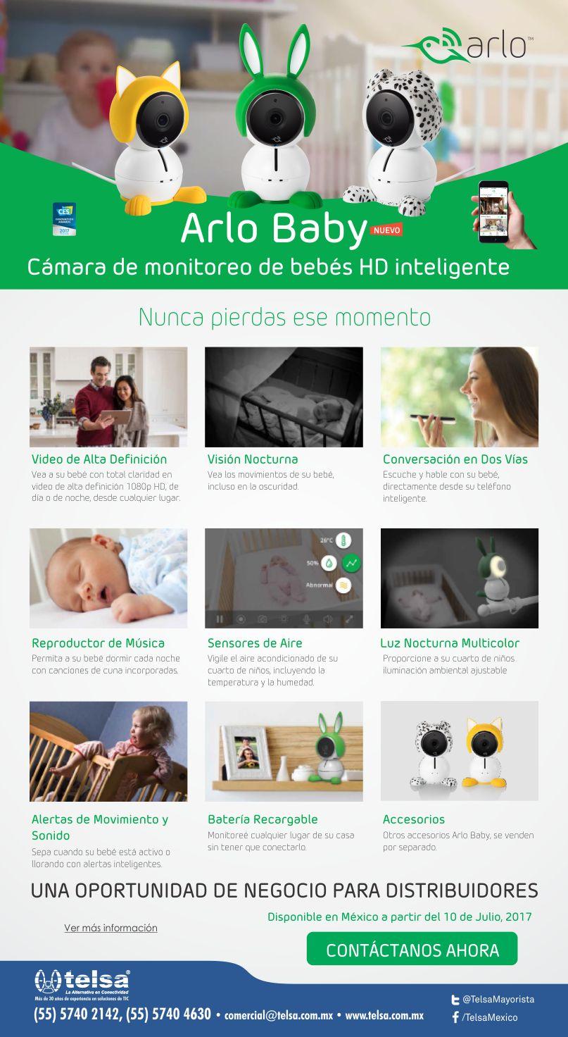 Telsa Mayorista | NETGEAR | Arlo Baby - Cámara de monitoreo de bebés HD inteligente
