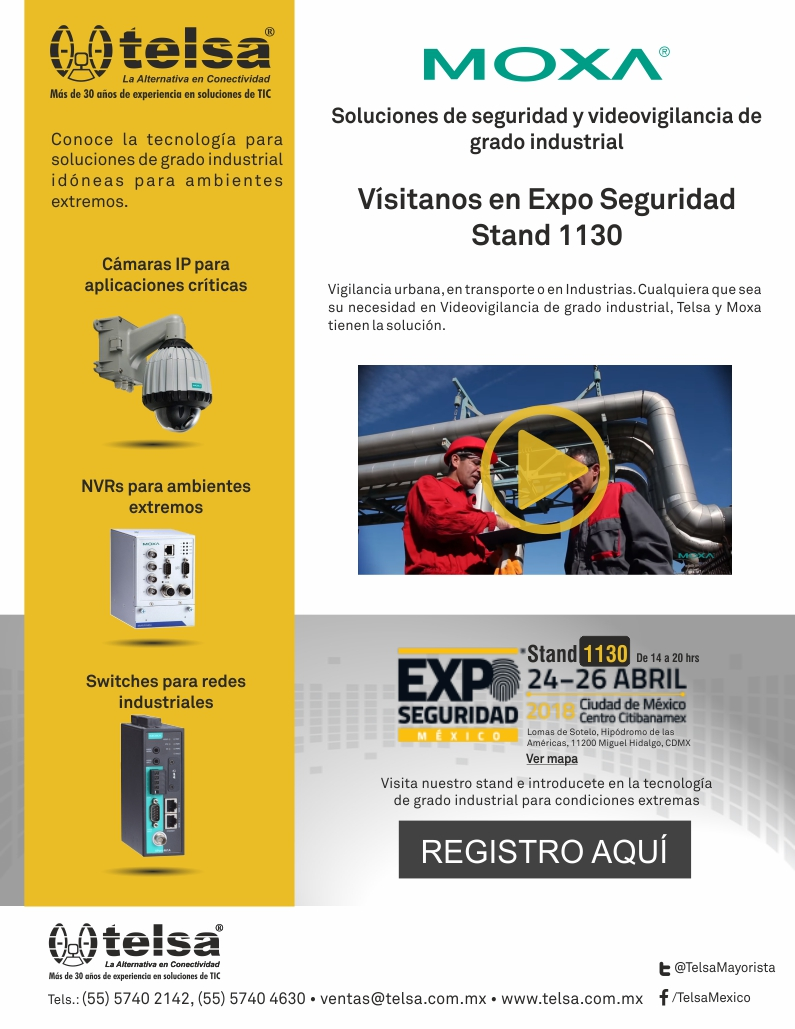 Telsa invita a Expo Seguridad Mexico 2018, ¡Regístrate!