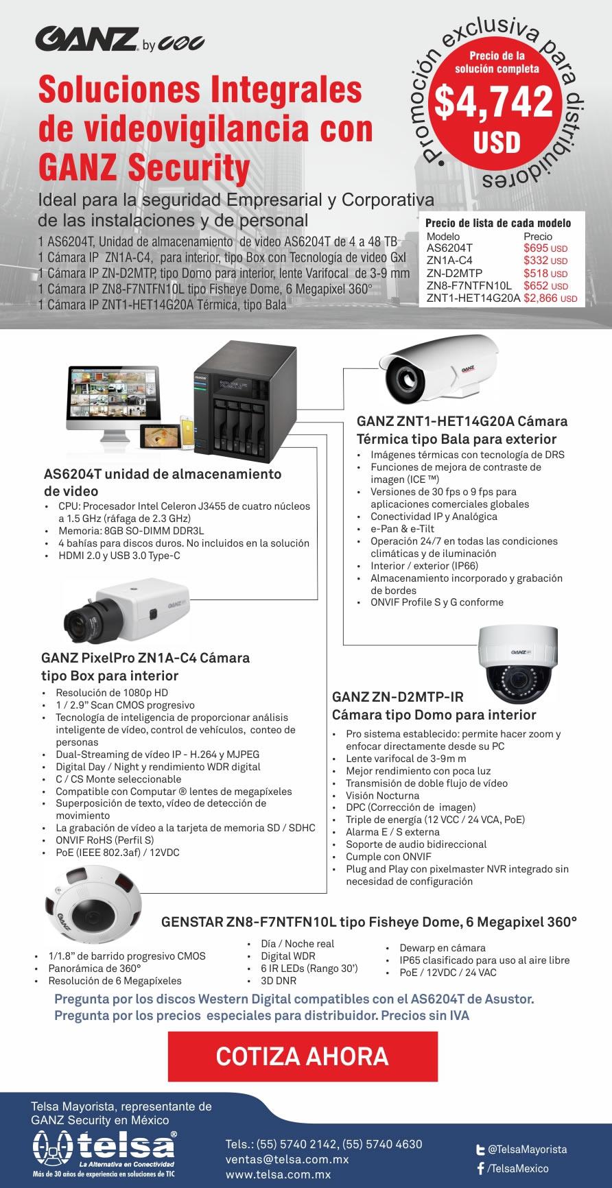 Soluciones integrales de videovigilancia con GANZ Security, ¡Cotiza ahora!