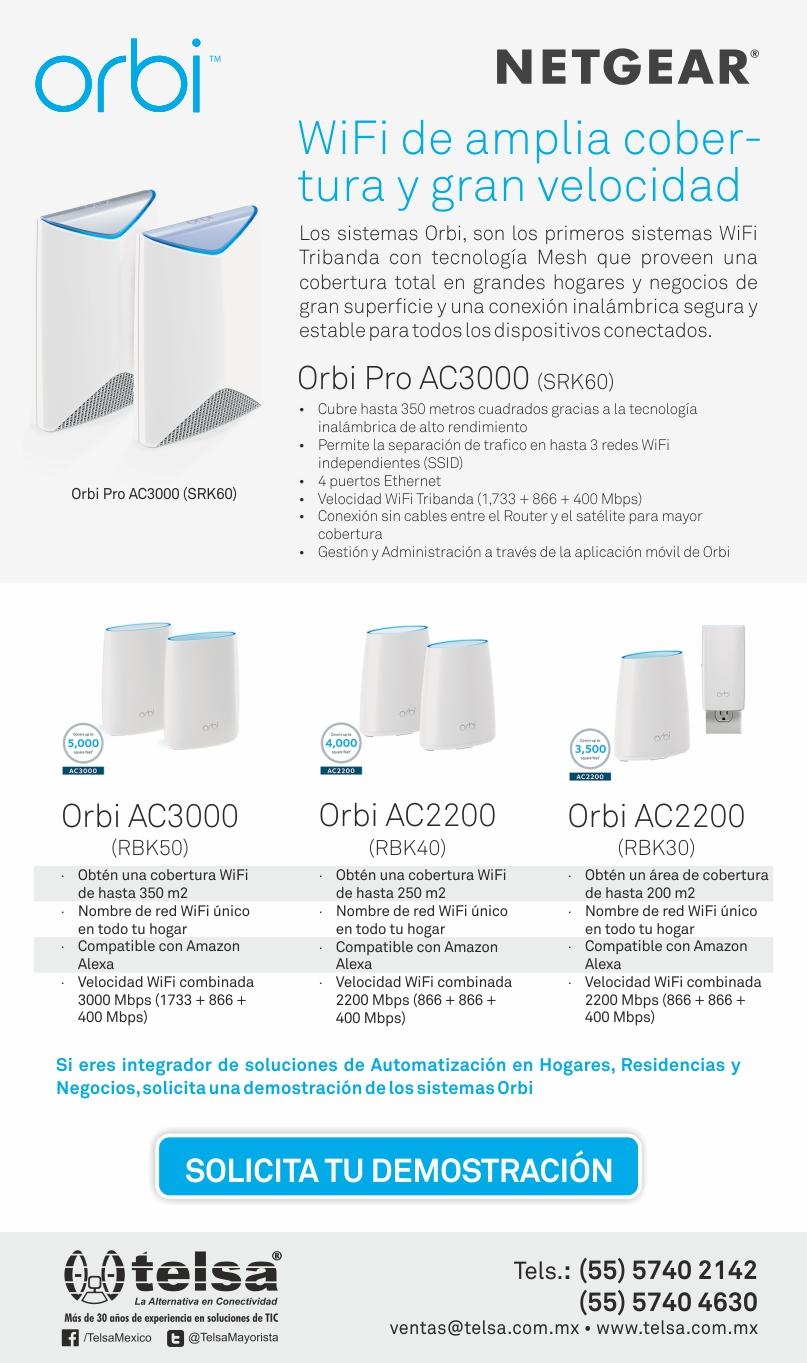 Orbi, WiFi de amplia cobertura y gran velocidad, ¡Contáctanos!