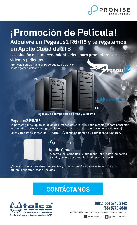 Aprovecha: Adquiere un Pegasus2 y obtén gratis un Apollo Cloud (Marca Promise)