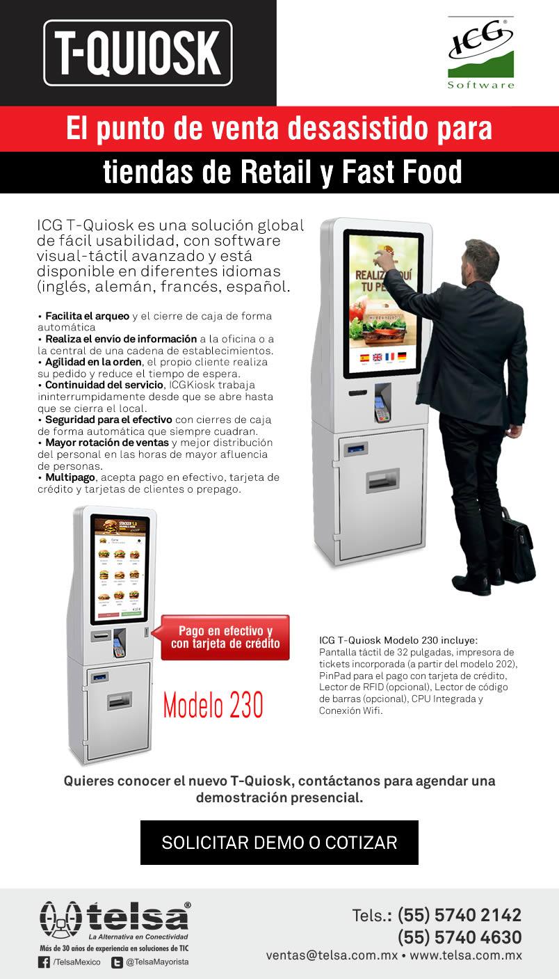 T-Quiosk, el punto de venta desasistido para tiendas de Retail y Fast Food, ¡Contáctanos!
