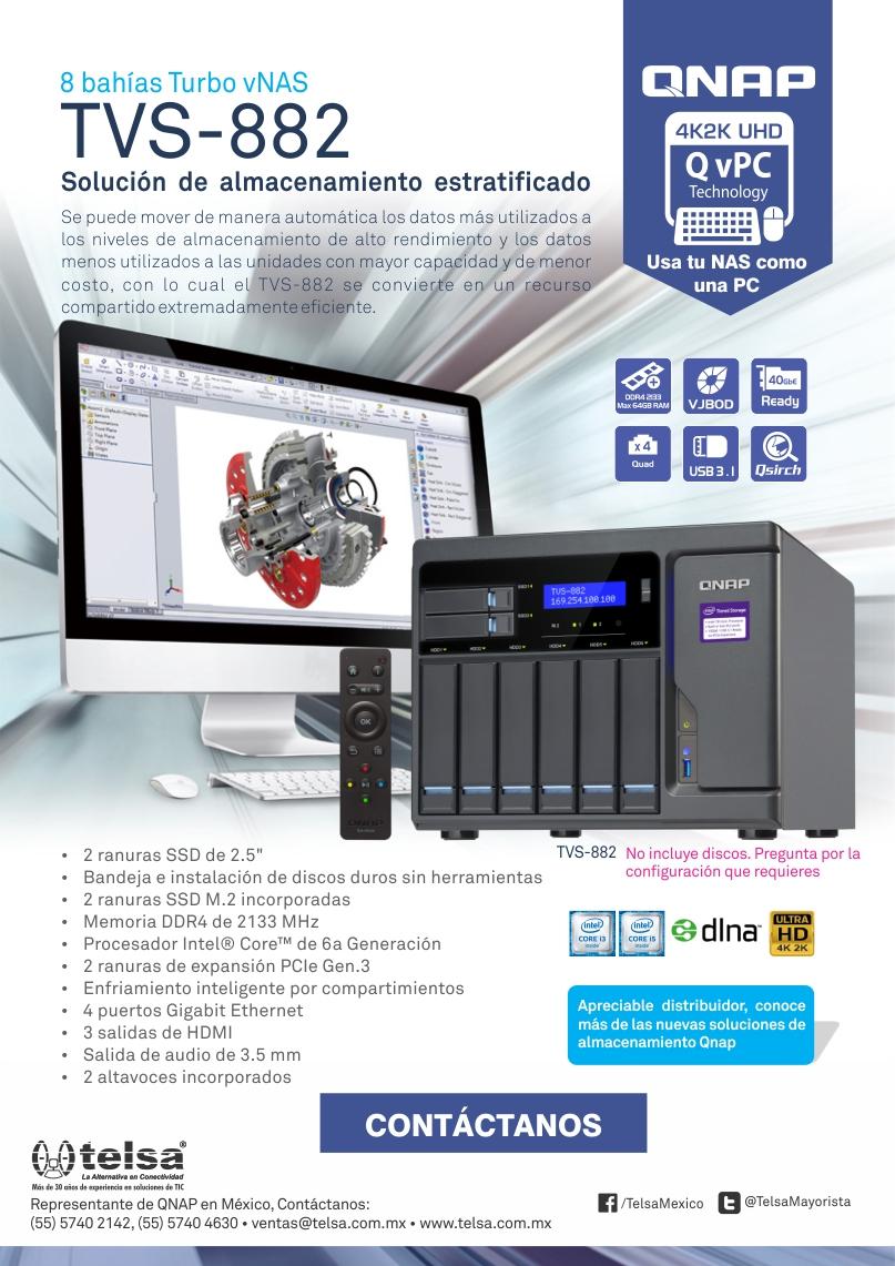 QNAP TVS-882 Solución de almacenamiento estratificado, ¡Contáctanos!