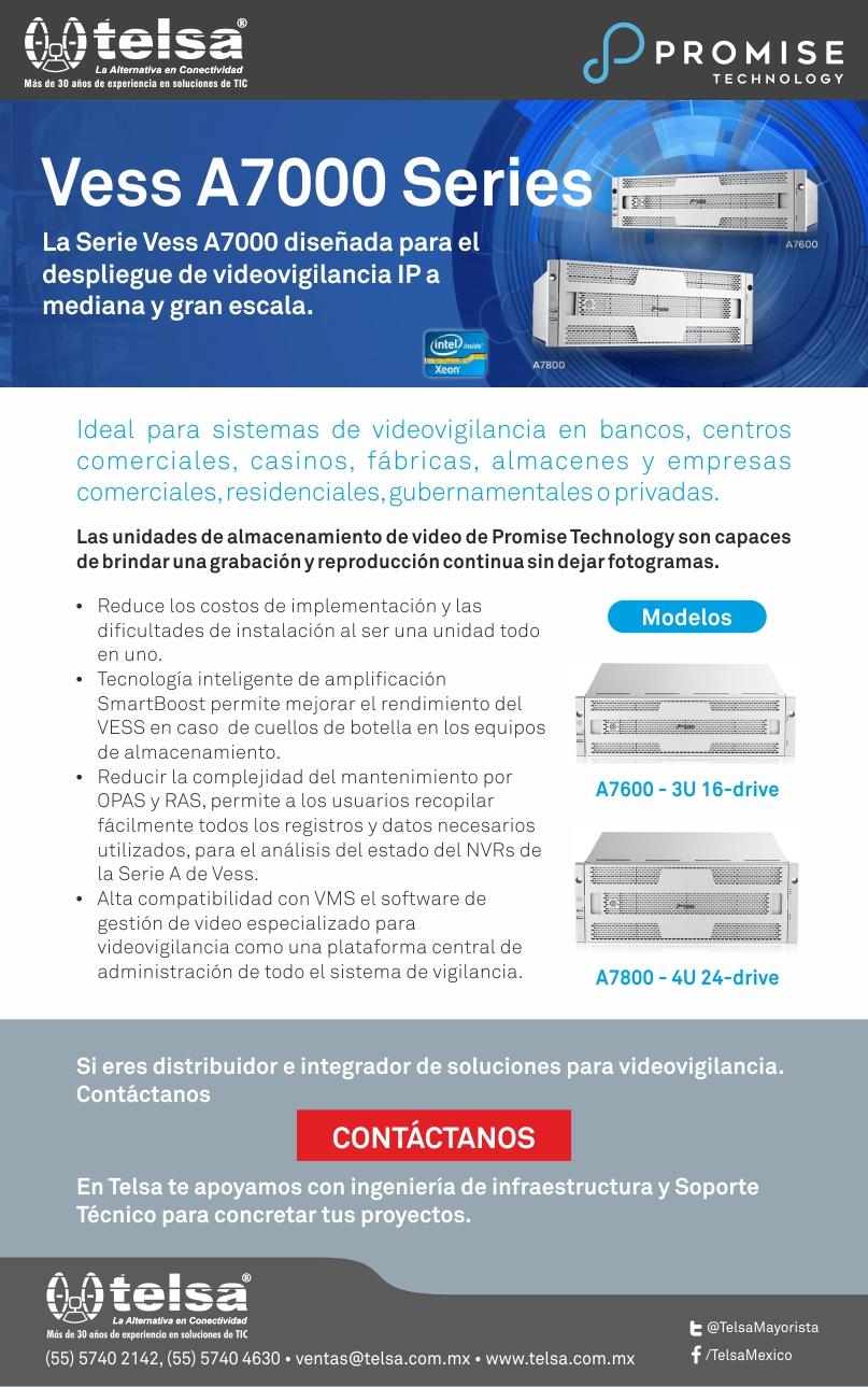 Serie Vess A7000 de Promise, diseñada para el despliegue de videovigilancia, ¡Contáctanos!