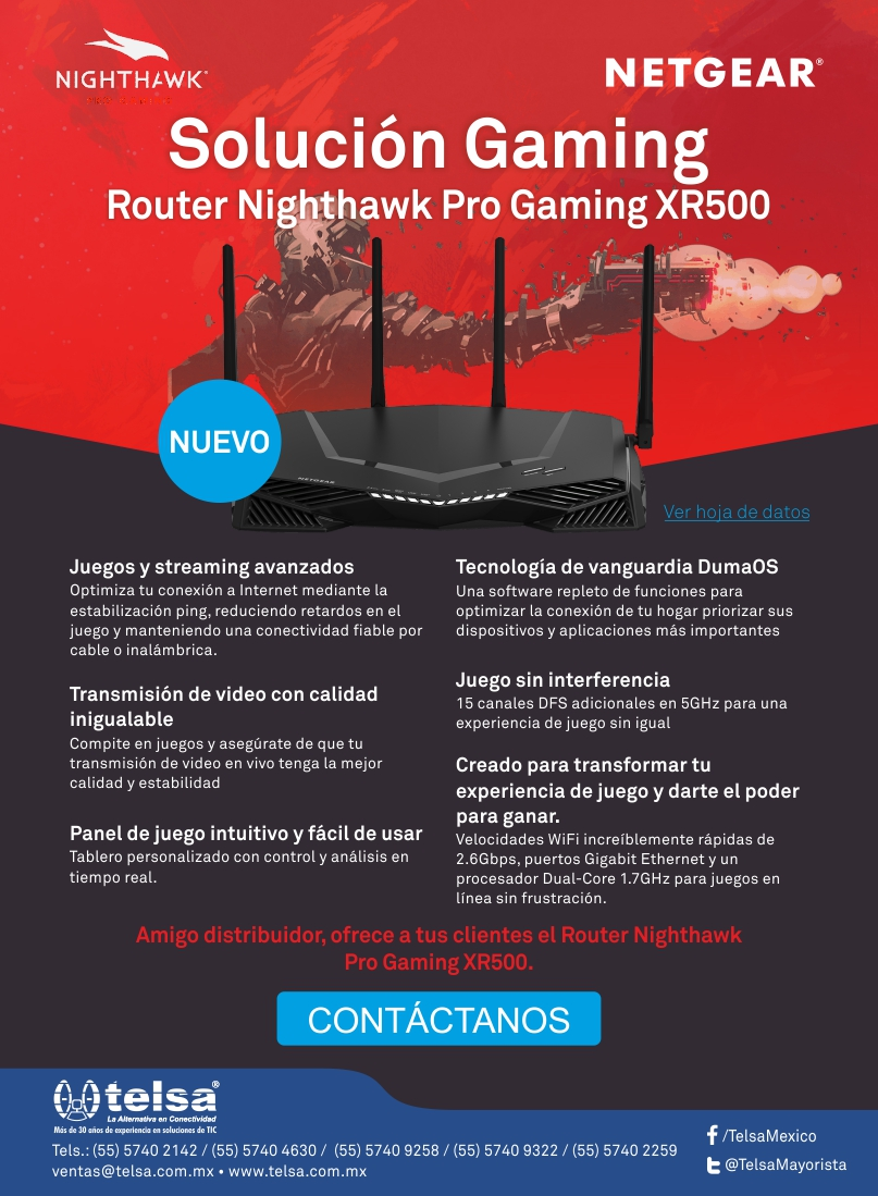 NETGEAR Nighthawk XR500, Nuevo Router Pro Gaming, ¡Contáctanos!