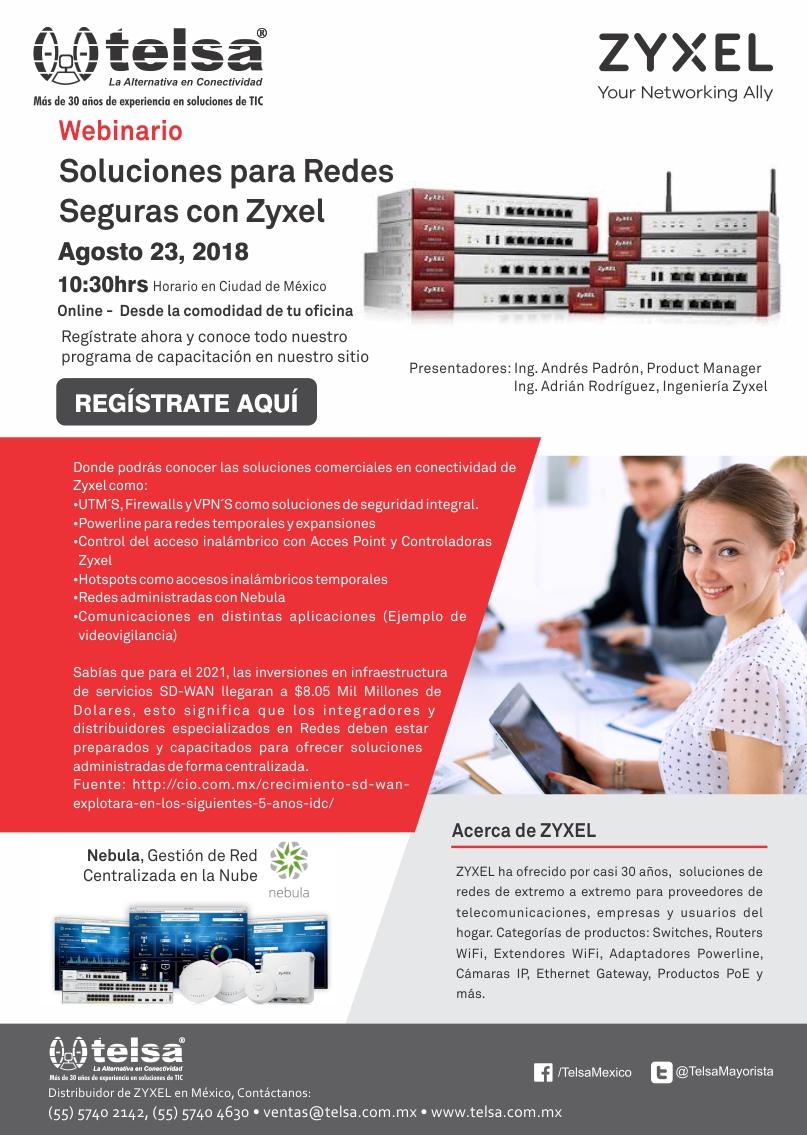 Webinar: Soluciones para Redes Seguras con Zyxel, ¡Regístrate ya!
