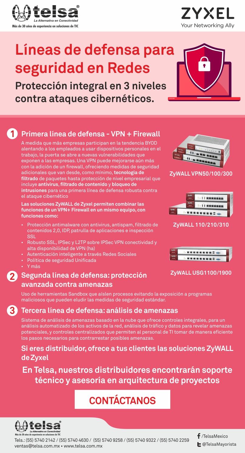 ZYXEL: Líneas de defensa para seguridad en Redes, ¡Contáctanos!