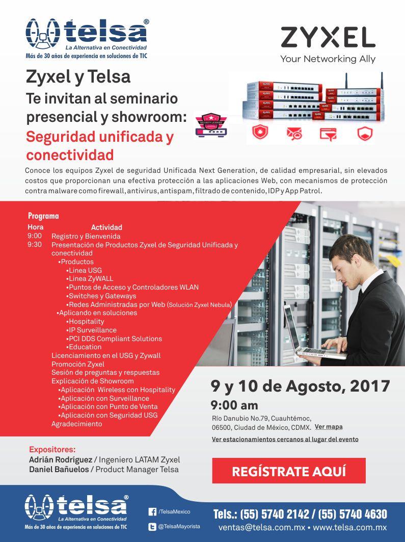 Seminario en seguridad unificada y conectividad Zyxel, ¡Regístrate!