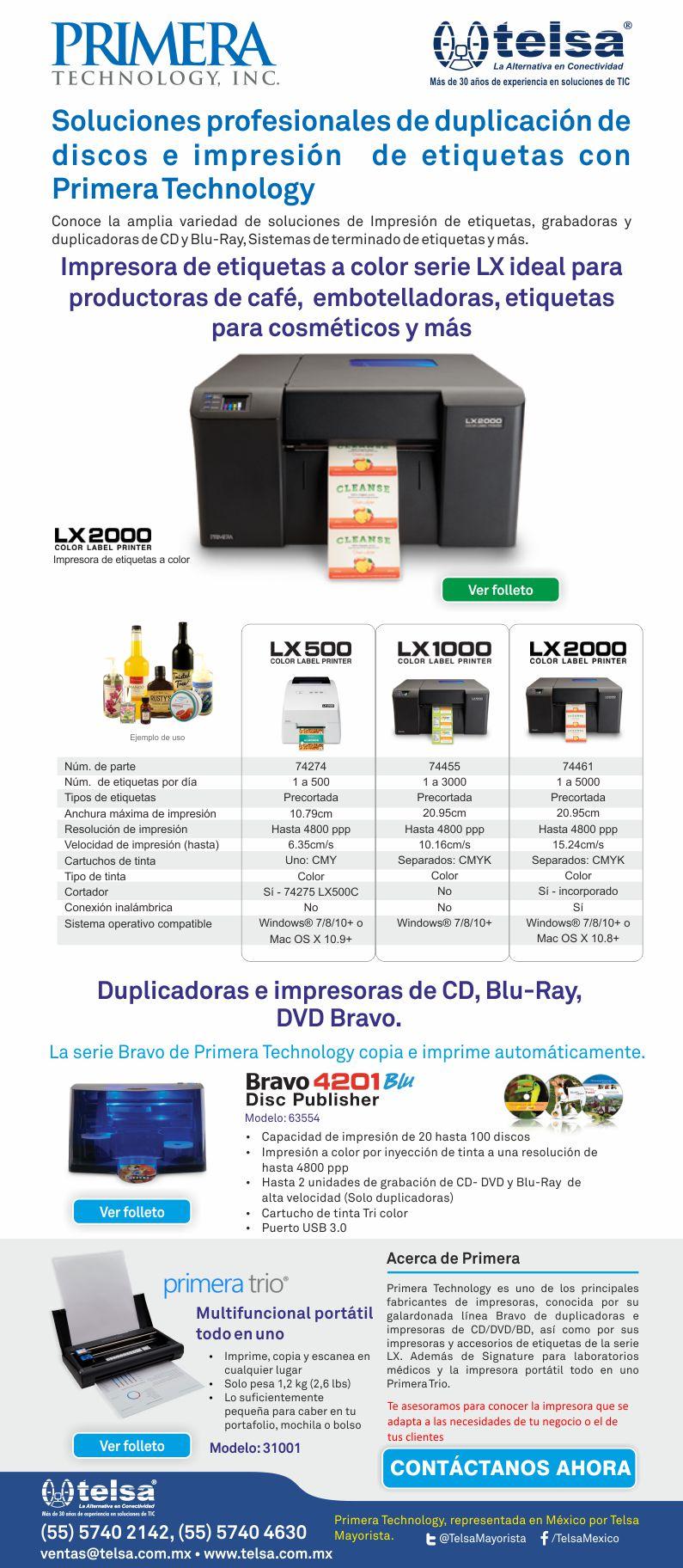 Soluciones profesionales de duplicación de discos e impresión de etiquetas con Primera Technology