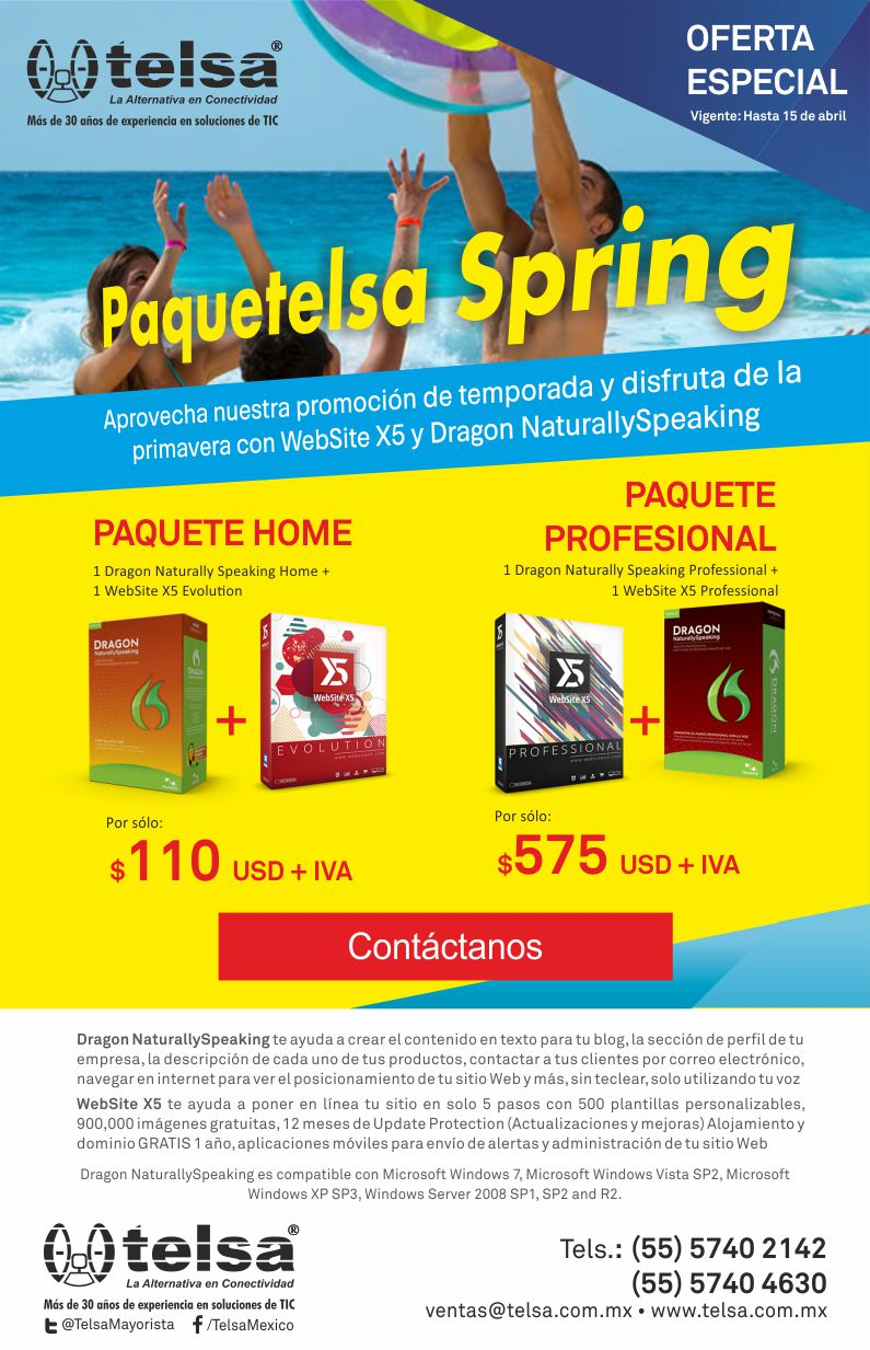 Aprovecha nuestra promoción Paquetelsa Spring