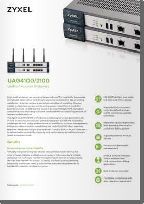 >Zyxel UAG4100/2100 Gateway de Acceso Unificado